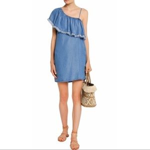 Splendid • One Shoulder Chambray Denim Dress